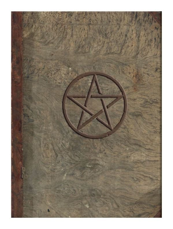 Magic Journal notesbog, skyggebog, book of shadows, pentagram