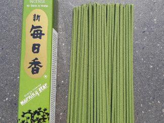 Green tea røgelse, Grøn te røgelse