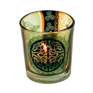 Glas til fyrfadslys, Keltisk Knude