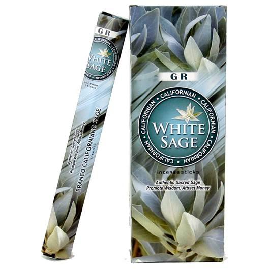 GR - White Sage (hvid Salvie) røgelsespinde