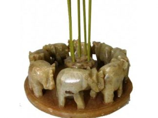 Røgelsesholder elefant fedtsten