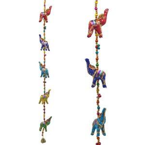 Dekorative hængende elefanter