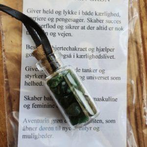 Flaske med grøn aventurin