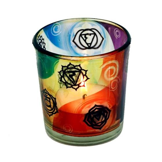 Glas til fyrfadslys – Chakra