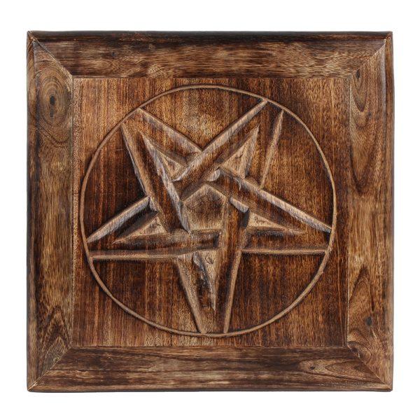 Alterbord med pentagram