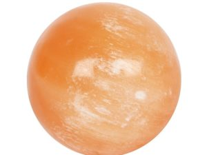 Orange Selenit Kugle (5 cm).