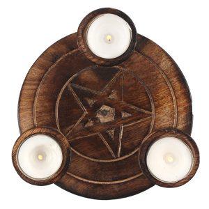Pentagram lysestage