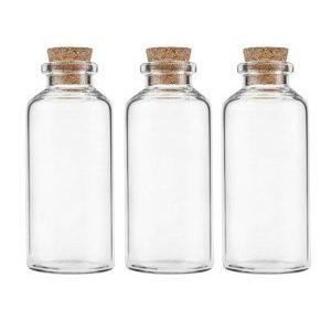 Emballage - glasflasker med korklåg.