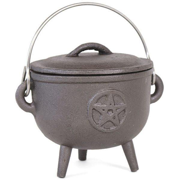 Heksekedel (cauldron) med pentagram
