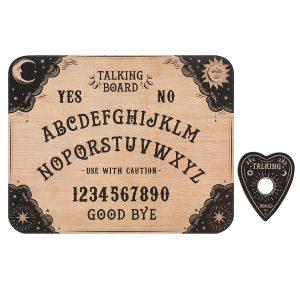 Udvidede resultater når der søges på Ouija bræt klassisk på google
